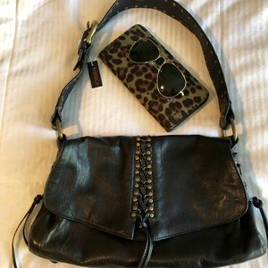 Black Leather Kooba Handbag